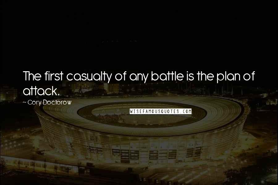 Cory Doctorow quotes: The first casualty of any battle is the plan of attack.