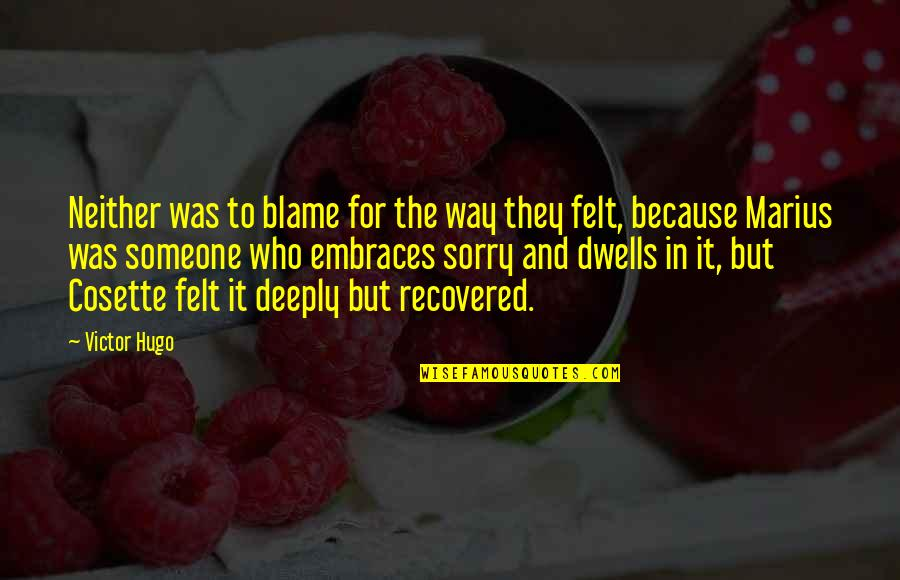 Cosette Quotes By Victor Hugo: Neither was to blame for the way they