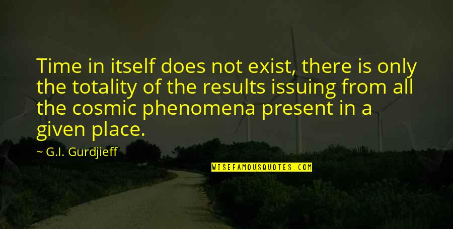 Cosmic Quotes By G.I. Gurdjieff: Time in itself does not exist, there is