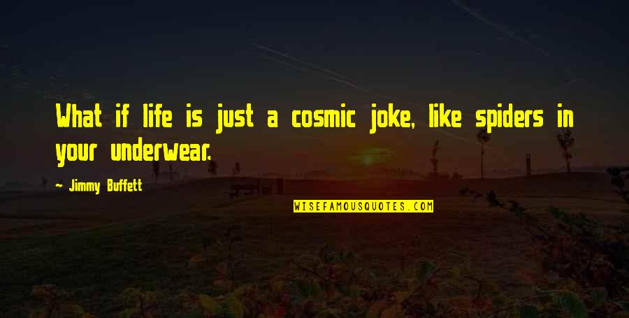Cosmic Quotes By Jimmy Buffett: What if life is just a cosmic joke,