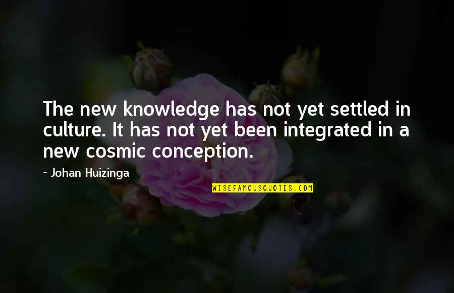 Cosmic Quotes By Johan Huizinga: The new knowledge has not yet settled in