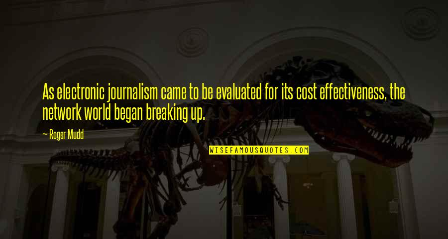 Cost Effectiveness Quotes By Roger Mudd: As electronic journalism came to be evaluated for