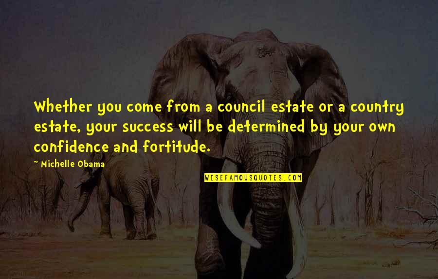 Council'll Quotes By Michelle Obama: Whether you come from a council estate or