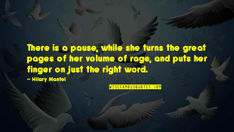 Counselors Quotes By Hilary Mantel: There is a pause, while she turns the