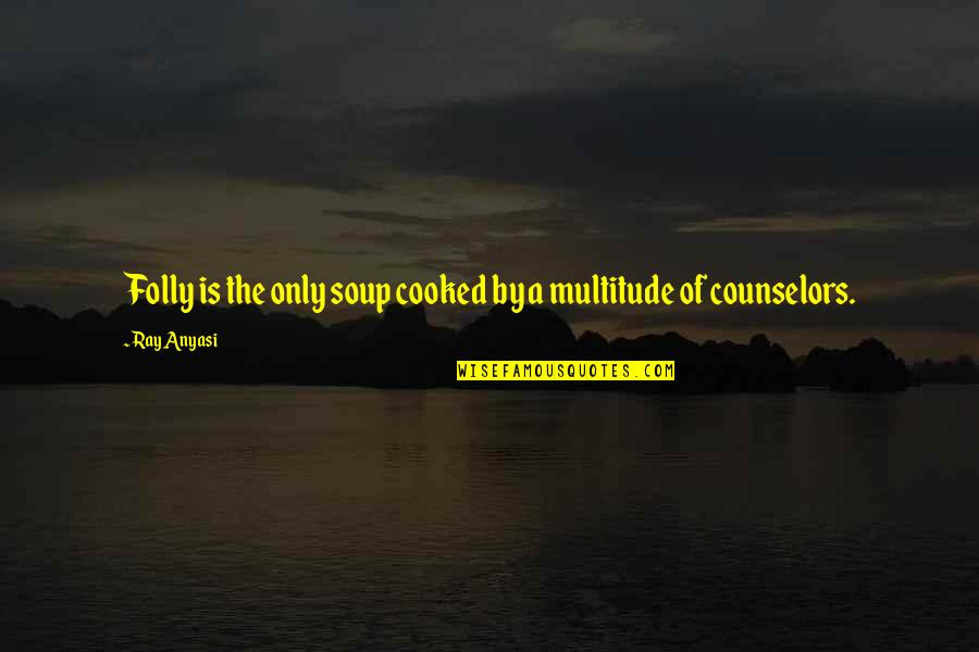 Counselors Quotes By Ray Anyasi: Folly is the only soup cooked by a
