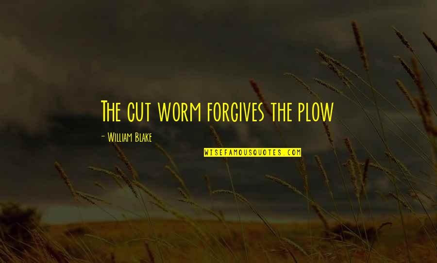Counselors Quotes By William Blake: The cut worm forgives the plow