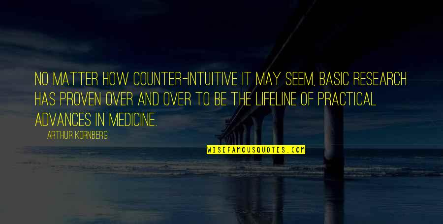 Counter Intuitive Quotes By Arthur Kornberg: No matter how counter-intuitive it may seem, basic