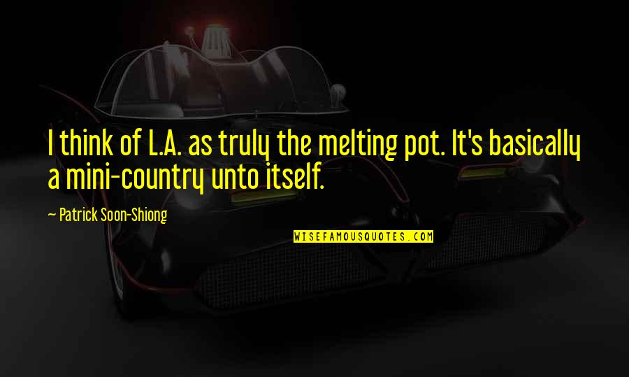 Country's Quotes By Patrick Soon-Shiong: I think of L.A. as truly the melting