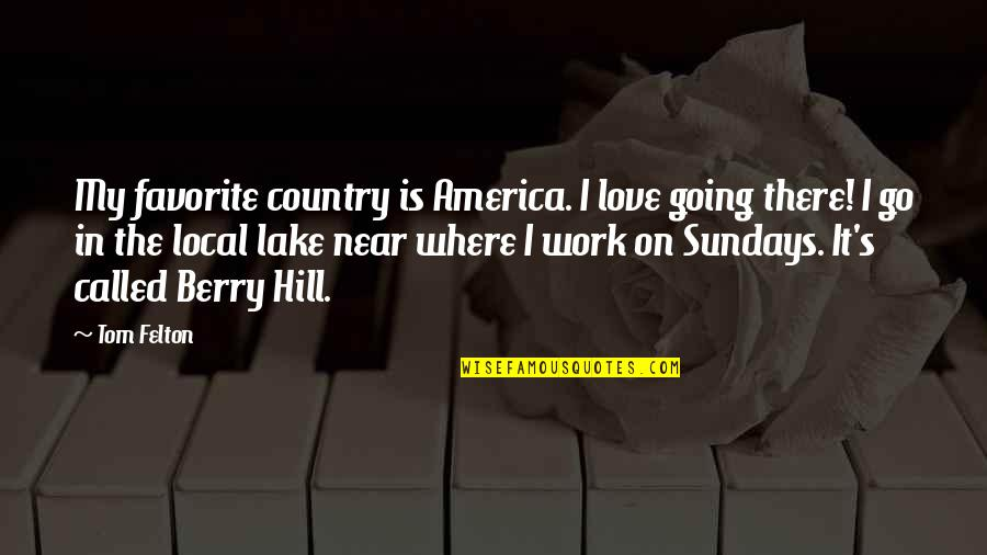 Country's Quotes By Tom Felton: My favorite country is America. I love going