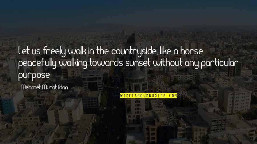 Countryside Walk Quotes By Mehmet Murat Ildan: Let us freely walk in the countryside, like