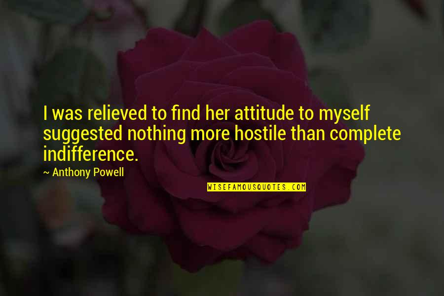 Courage The Cowardly Dog Funny Quotes By Anthony Powell: I was relieved to find her attitude to