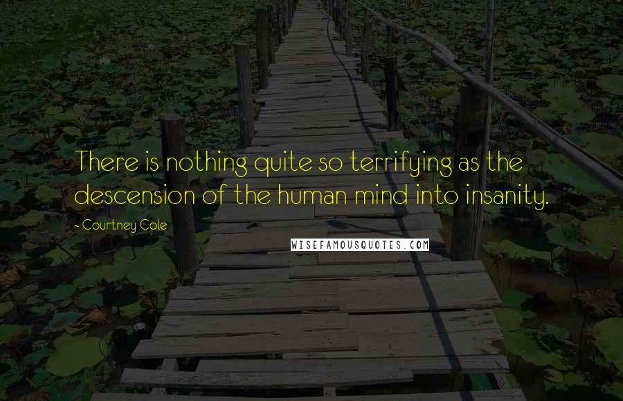 Courtney Cole quotes: There is nothing quite so terrifying as the descension of the human mind into insanity.