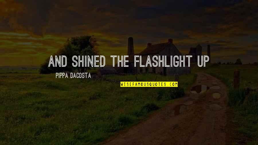 Covenant Love Quotes By Pippa DaCosta: and shined the flashlight up