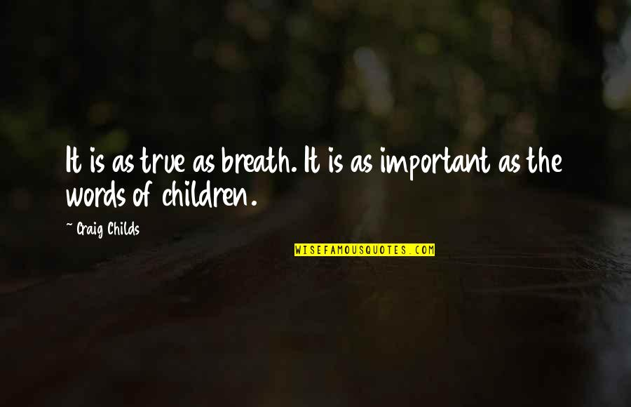 Craig Childs Quotes By Craig Childs: It is as true as breath. It is