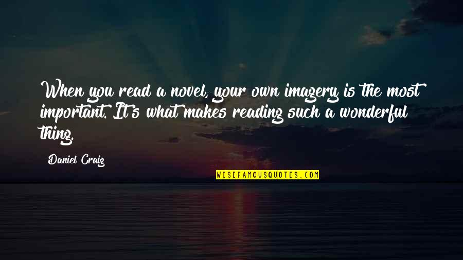 Craig's Quotes By Daniel Craig: When you read a novel, your own imagery