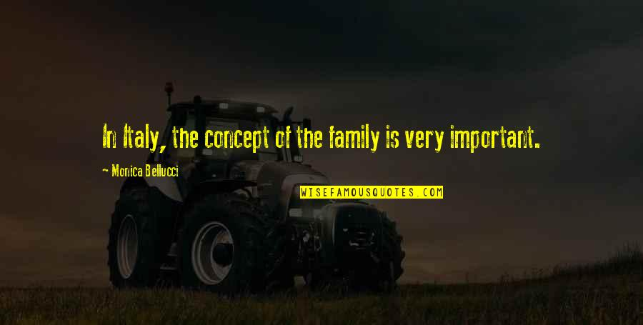 Crashland Quotes By Monica Bellucci: In Italy, the concept of the family is