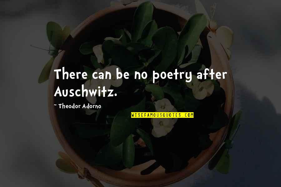 Crassius Curio Quotes By Theodor Adorno: There can be no poetry after Auschwitz.