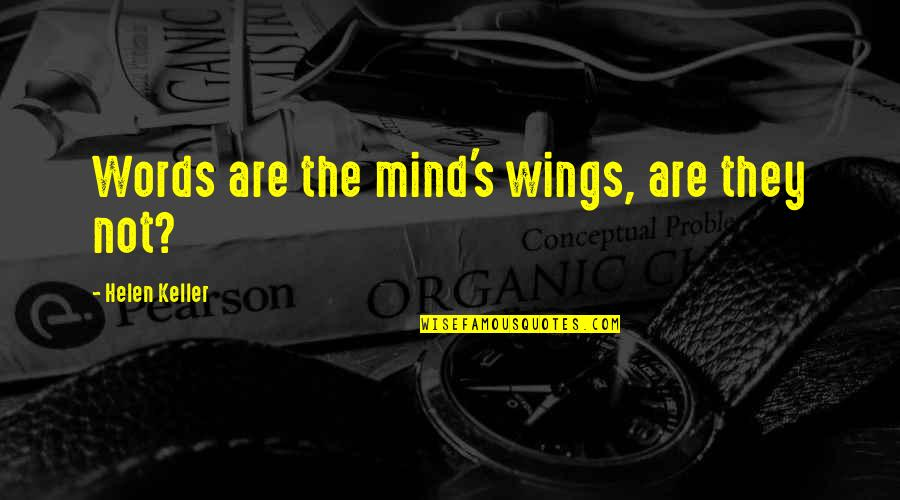 Crazy Elder Sister Quotes By Helen Keller: Words are the mind's wings, are they not?