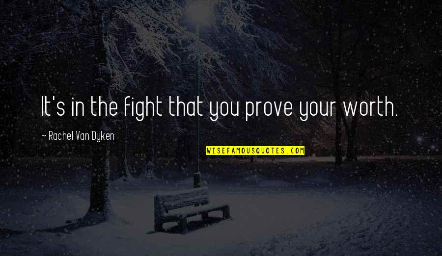 Crazy Horse Lakota Quotes By Rachel Van Dyken: It's in the fight that you prove your