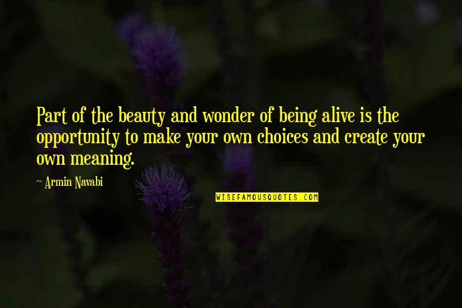 Create Your Own Quotes By Armin Navabi: Part of the beauty and wonder of being