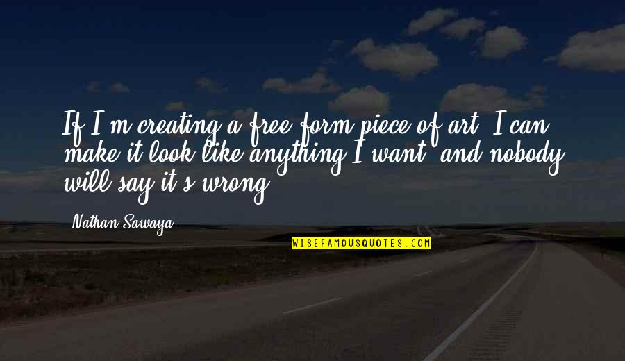 Creating And Art Quotes By Nathan Sawaya: If I'm creating a free-form piece of art,