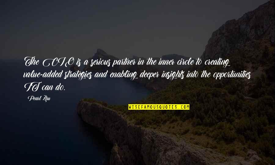 Creating Opportunities Quotes By Pearl Zhu: The CIO is a serious partner in the