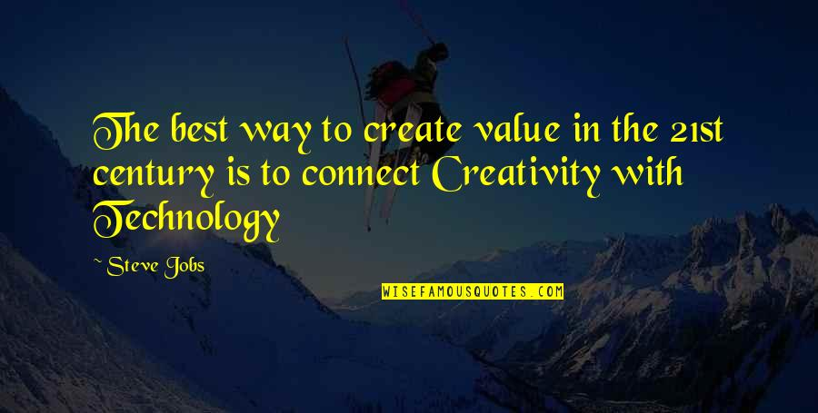 Creativity And Technology Quotes By Steve Jobs: The best way to create value in the