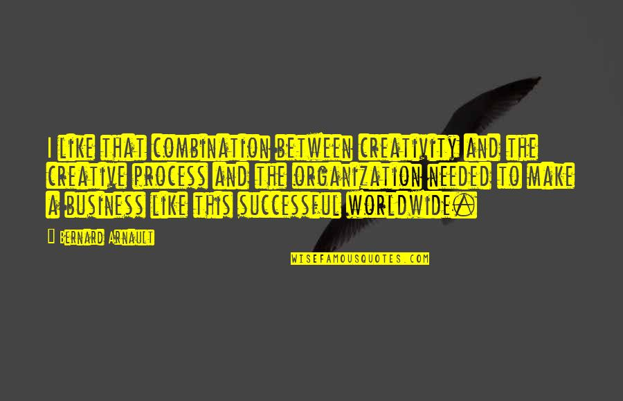 Creativity In Business Quotes By Bernard Arnault: I like that combination between creativity and the