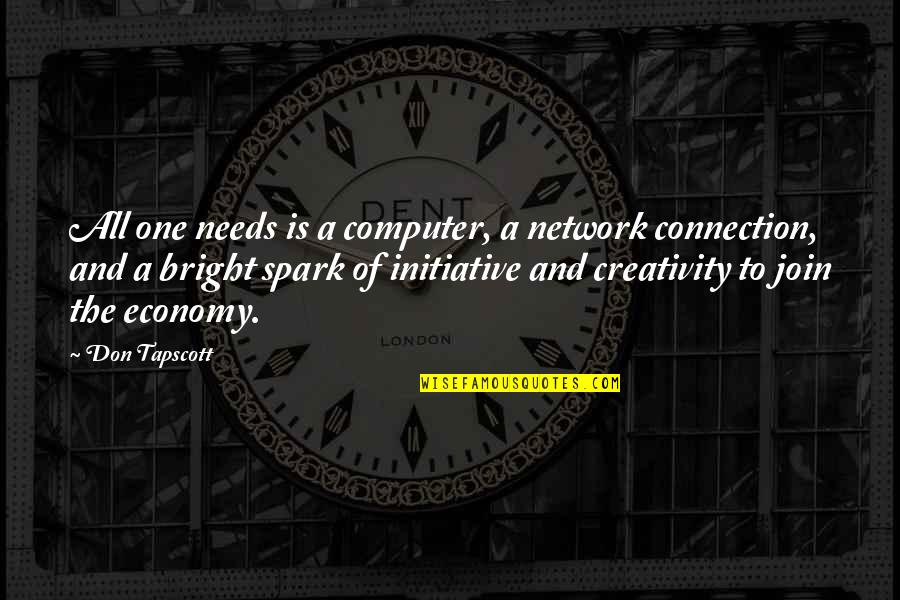 Creativity In Business Quotes By Don Tapscott: All one needs is a computer, a network
