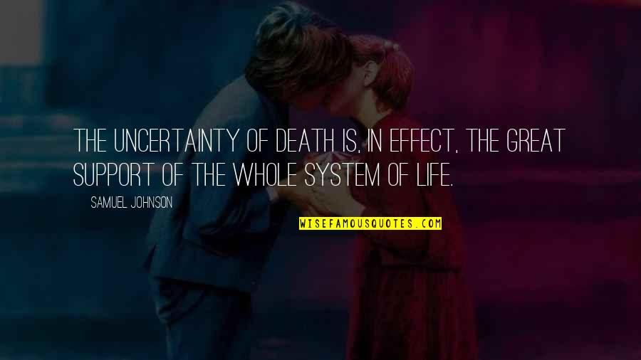 Creed Born To Fight Quotes By Samuel Johnson: The uncertainty of death is, in effect, the