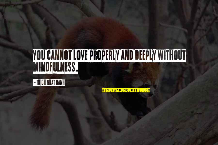Creed Born To Fight Quotes By Thich Nhat Hanh: You cannot love properly and deeply without mindfulness.