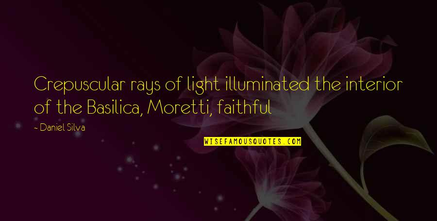 Crepuscular Quotes By Daniel Silva: Crepuscular rays of light illuminated the interior of