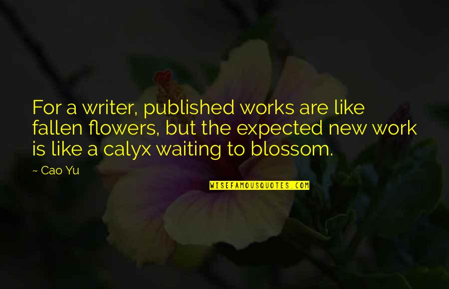 Crime Mapping Quotes By Cao Yu: For a writer, published works are like fallen
