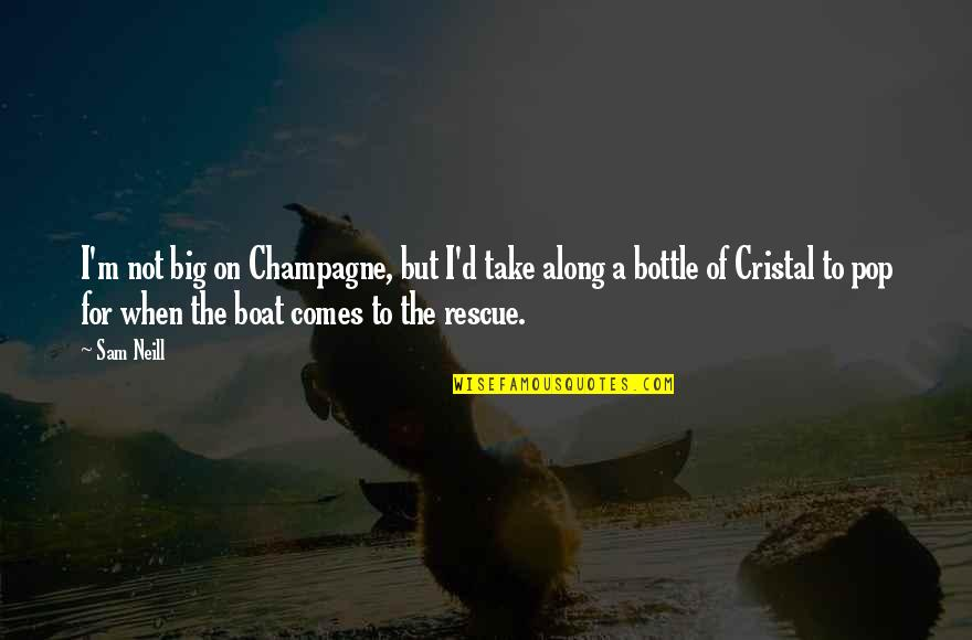 Cristal Quotes By Sam Neill: I'm not big on Champagne, but I'd take