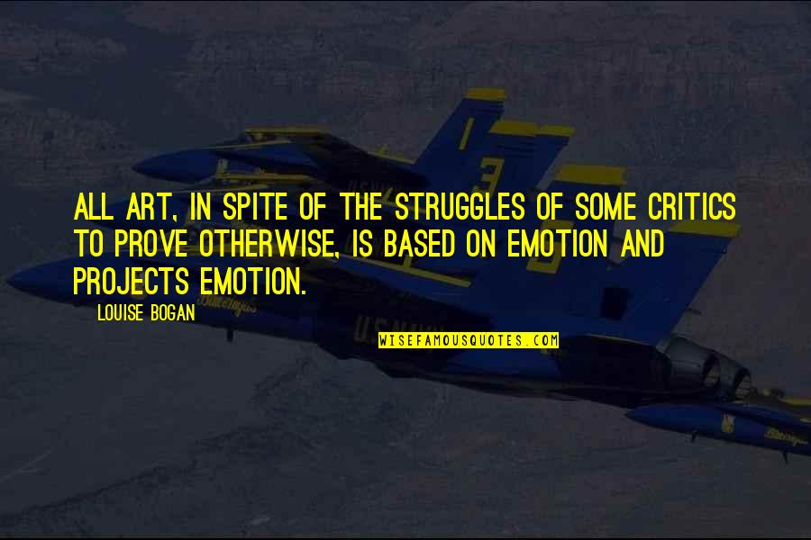 Critics Art Quotes By Louise Bogan: All art, in spite of the struggles of