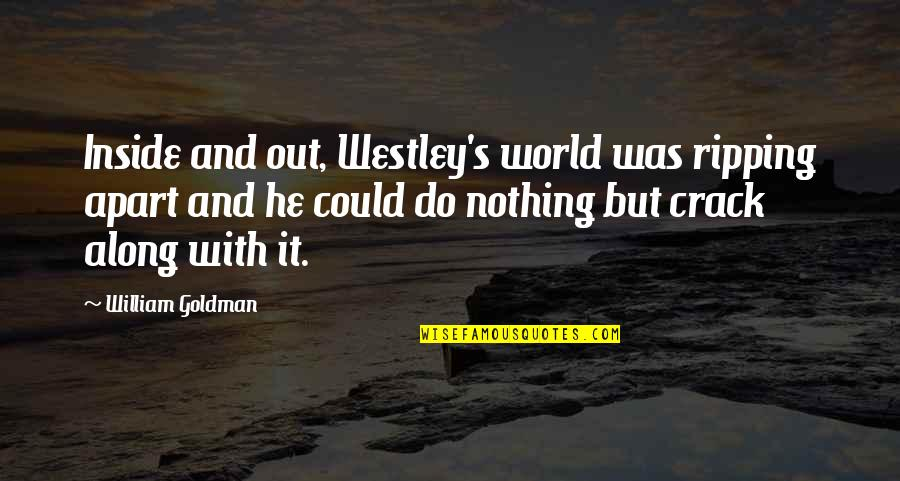 Crocodile Dundee 3 Quotes By William Goldman: Inside and out, Westley's world was ripping apart
