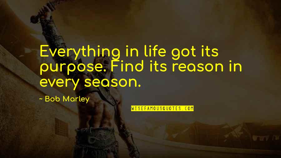 Crocodile Smile Quotes By Bob Marley: Everything in life got its purpose. Find its