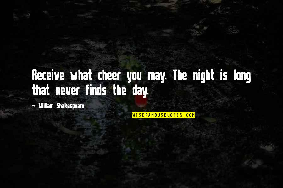 Croesus Quotes By William Shakespeare: Receive what cheer you may. The night is