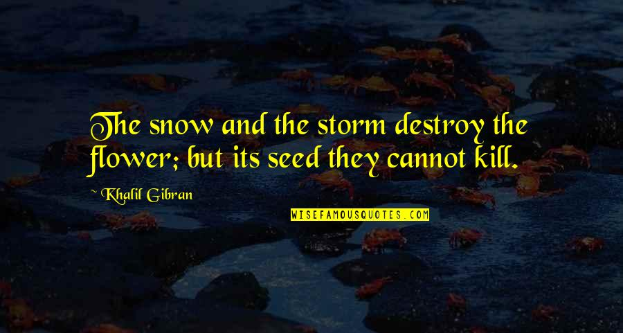 Crossfit Coach Glassman Quotes By Khalil Gibran: The snow and the storm destroy the flower;