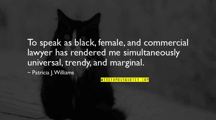 Cruelty Of Human Nature Quotes By Patricia J. Williams: To speak as black, female, and commercial lawyer