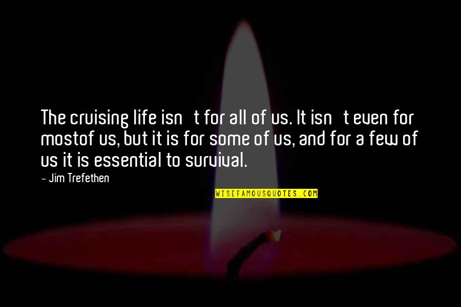 Cruising In Life Quotes By Jim Trefethen: The cruising life isn't for all of us.
