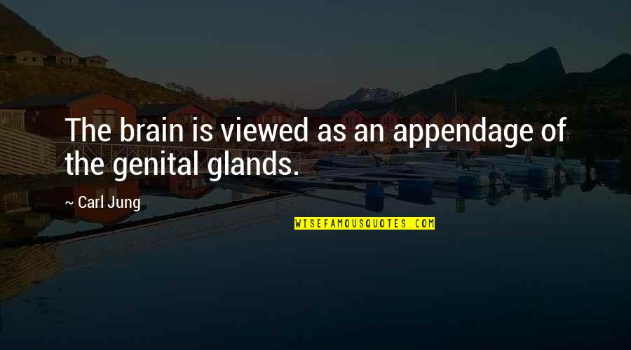 Crum'ling Quotes By Carl Jung: The brain is viewed as an appendage of