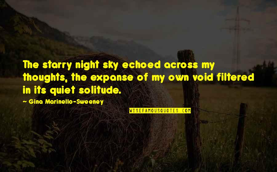 Crunch Bandicoot Quotes By Gina Marinello-Sweeney: The starry night sky echoed across my thoughts,