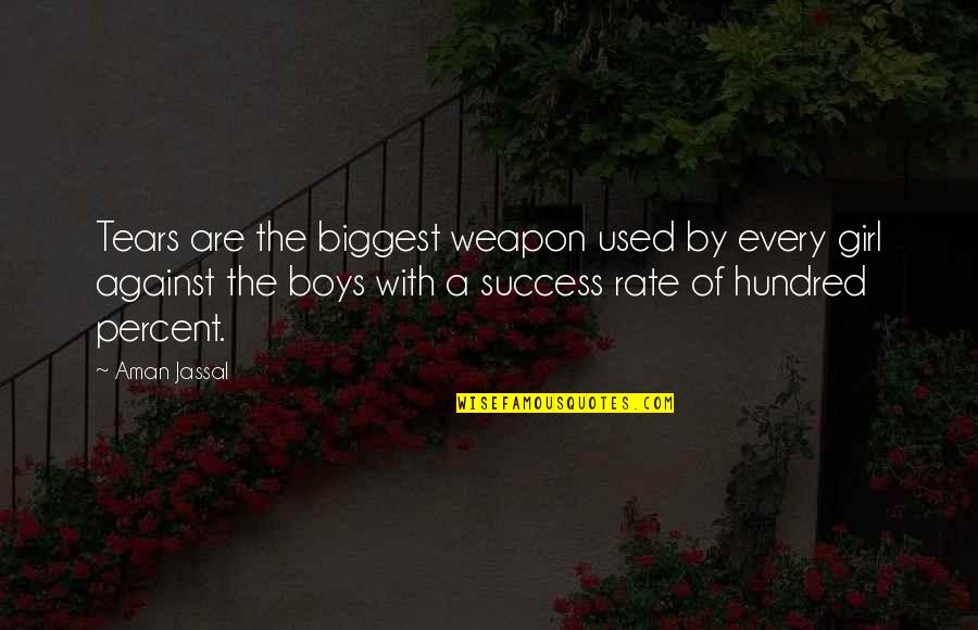 Crying Over A Girl Quotes By Aman Jassal: Tears are the biggest weapon used by every