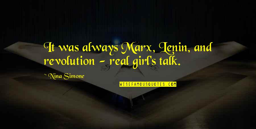 Csvreader Strict Quotes By Nina Simone: It was always Marx, Lenin, and revolution -