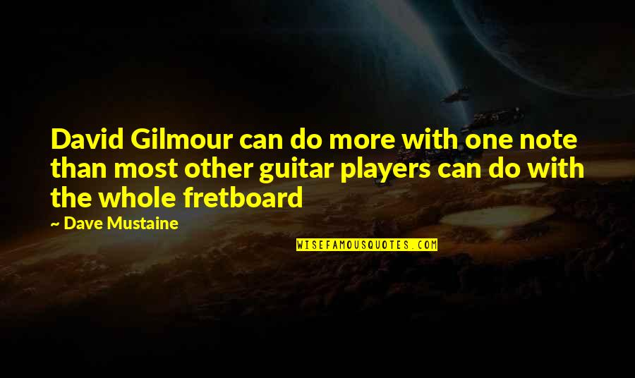 Cuauhtemoc Sanchez Quotes By Dave Mustaine: David Gilmour can do more with one note
