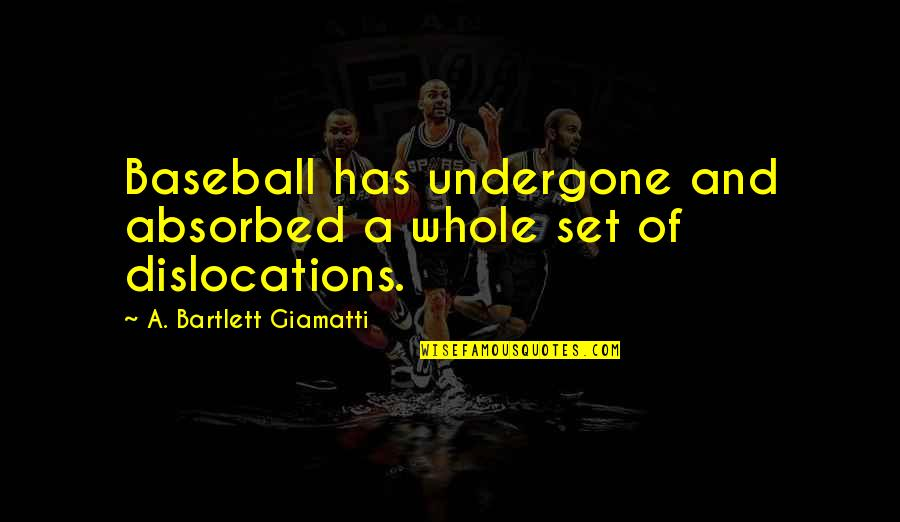 Cuban Cigar Quotes By A. Bartlett Giamatti: Baseball has undergone and absorbed a whole set