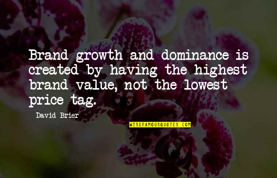 Culture Of A Company Quotes By David Brier: Brand growth and dominance is created by having