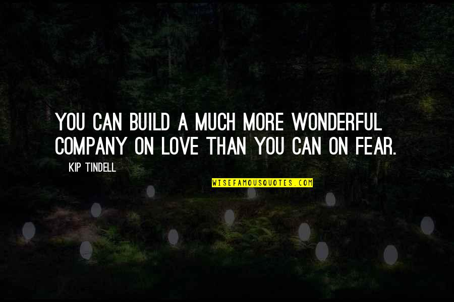 Culture Of A Company Quotes By Kip Tindell: You can build a much more wonderful company