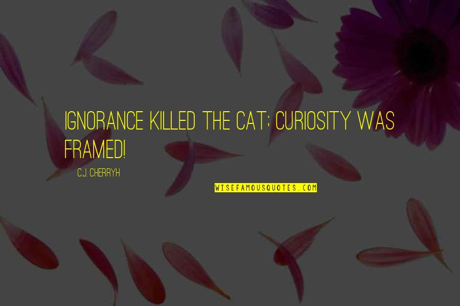 Curiosity And Cat Quotes By C.J. Cherryh: Ignorance killed the cat; curiosity was framed!
